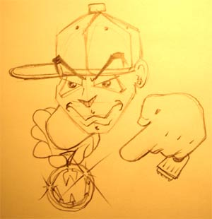 Рисуем лицо b-boy'я